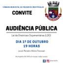 Audiência Pública debate LDO para 2022